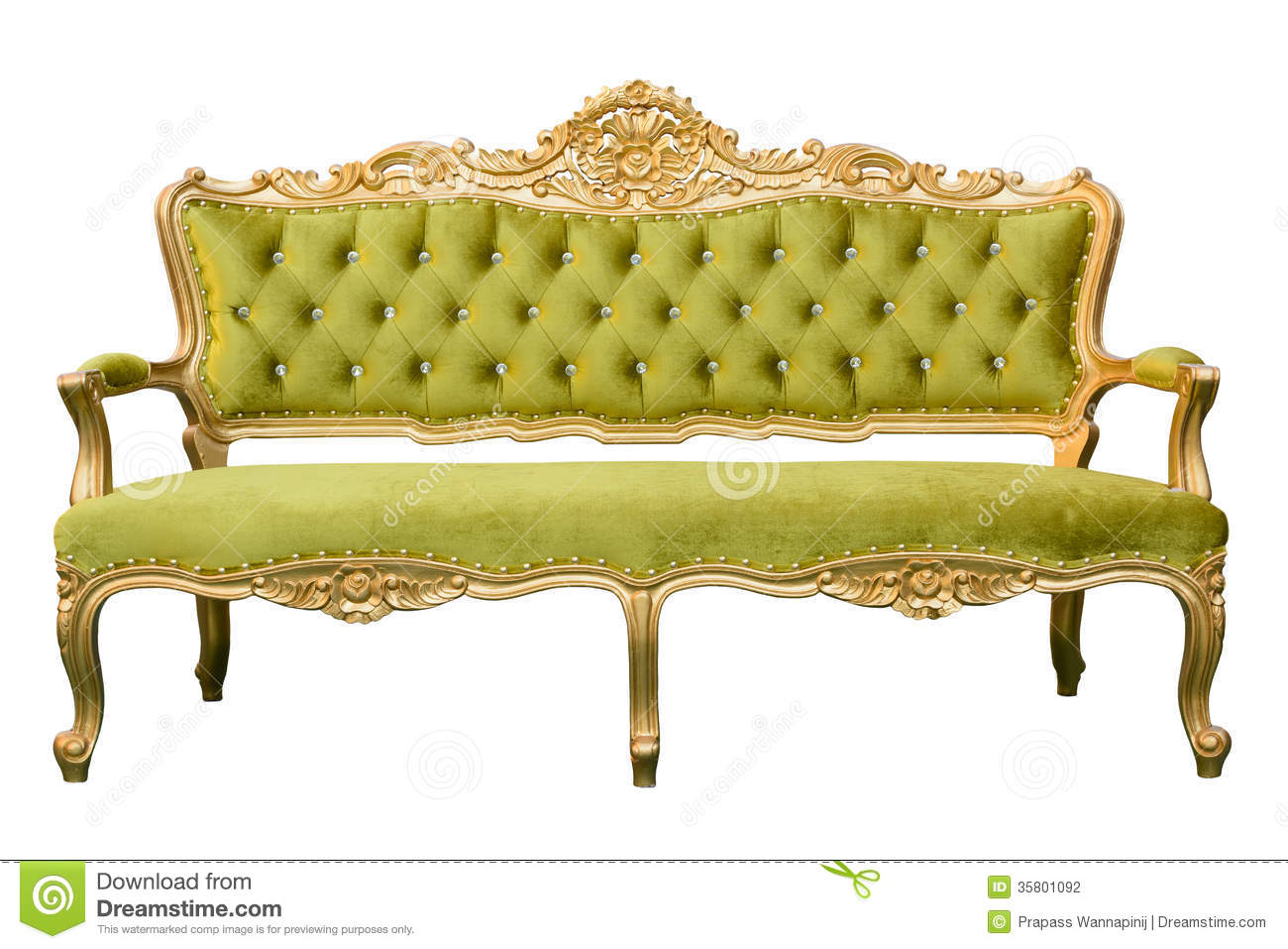 Sofa Vintage A Vendre Luxury Vintage Green Couch Isolated Stock Photo Image Of
