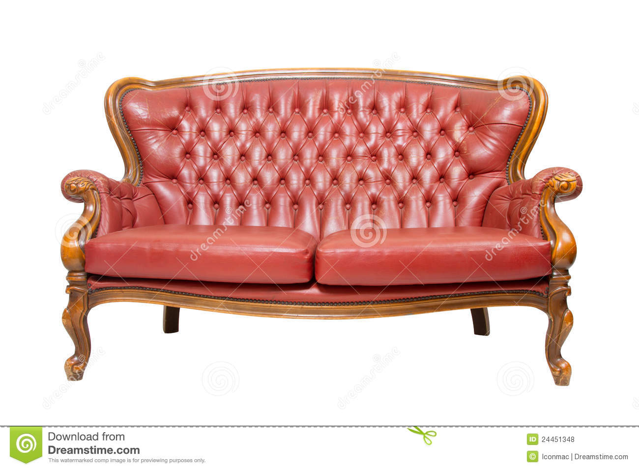 Sofa Vermelho Retro Luxury Vintage Red Sofa Stock Photo Image Of Design 24451348