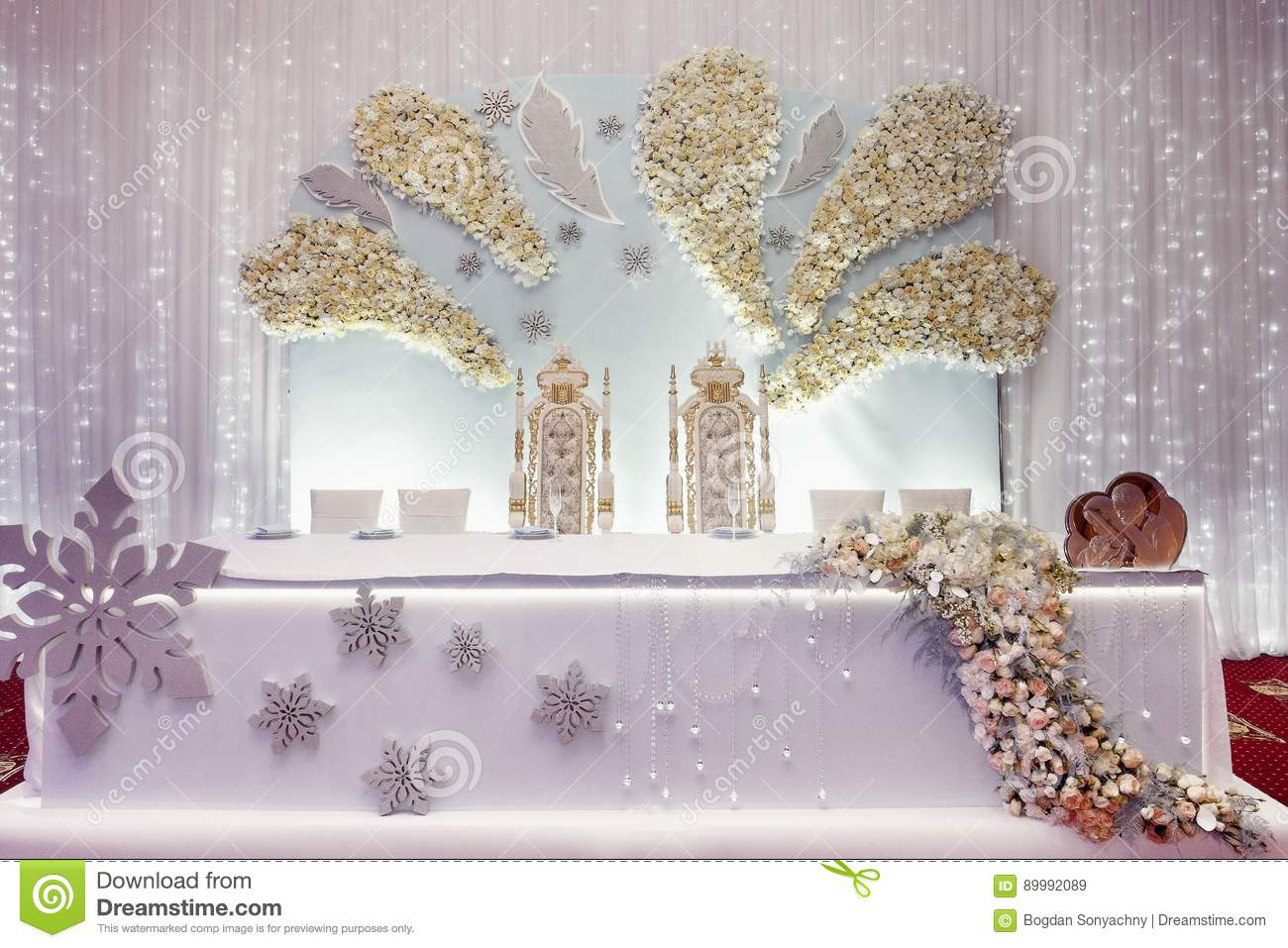 Luxury Wedding Decor Arrangements Of Centerpiece Table For