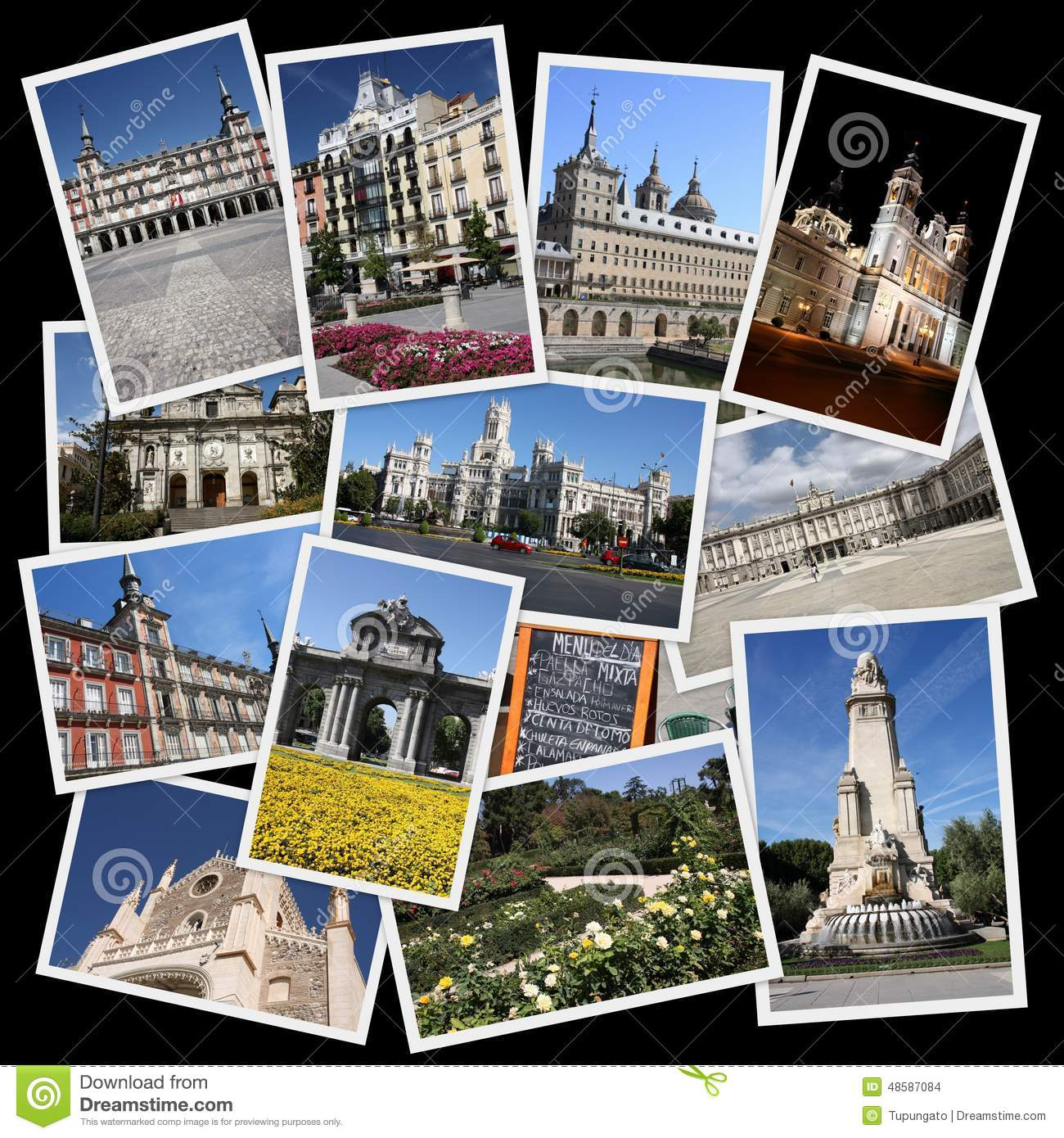 Collage Fotos Collage Landmarks Madrid Spain Stock Images Download 77 Royalty