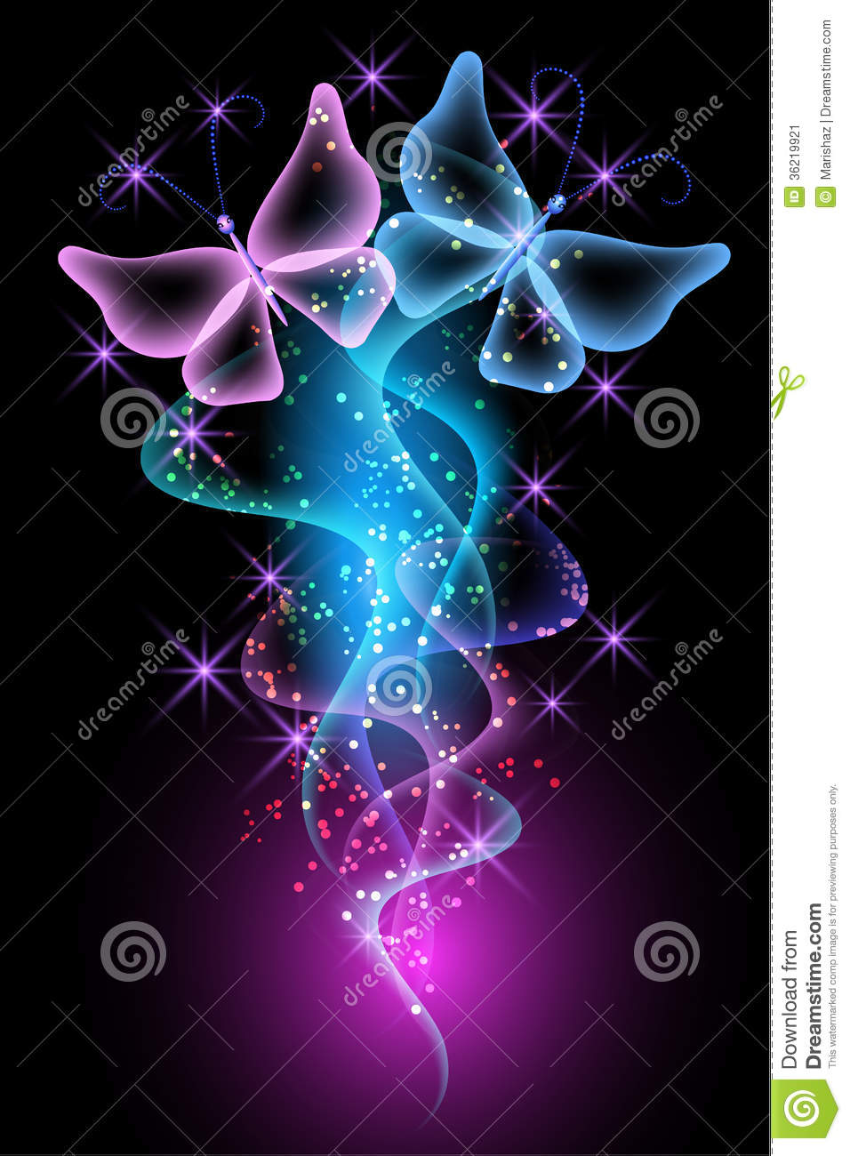 Dynamic Iphone X Wallpaper Magic Transparent Butterfly Stock Vector Illustration Of