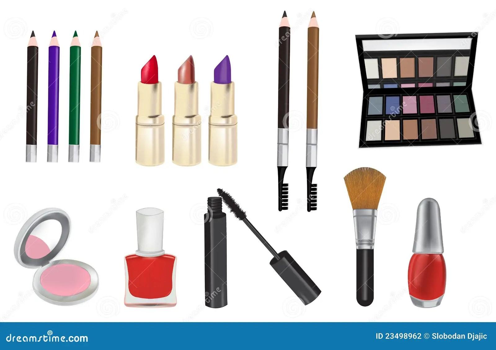 Cute Nail Arts Wallpaper Make Up And Cosmetics Vector Illustration Stock
