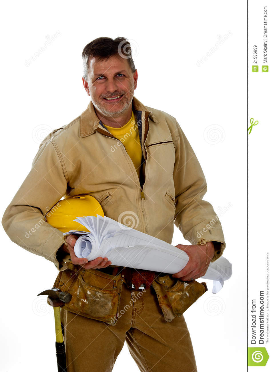 Stock Image Dreamstime Male Construction Worker Wearing A Tool Belt Royalty Free