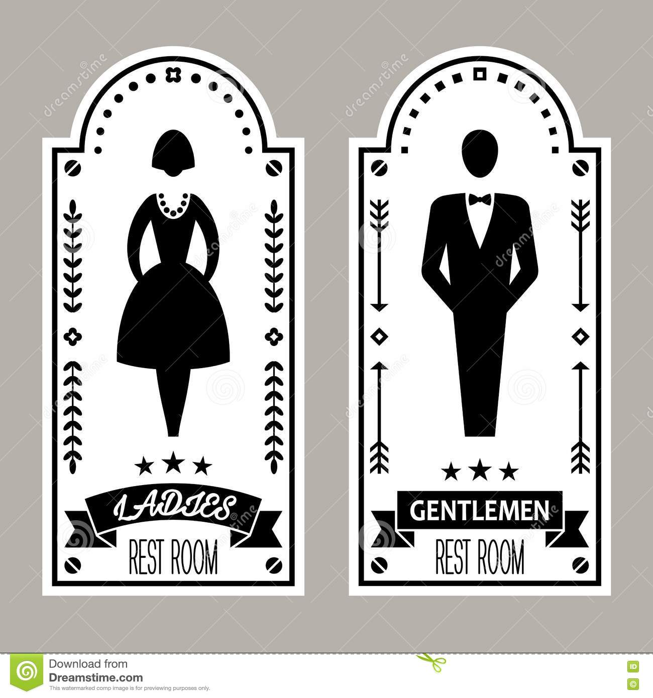 Bathroom Signs Male Female bathroom symbol vector | carpetcleaningvirginia
