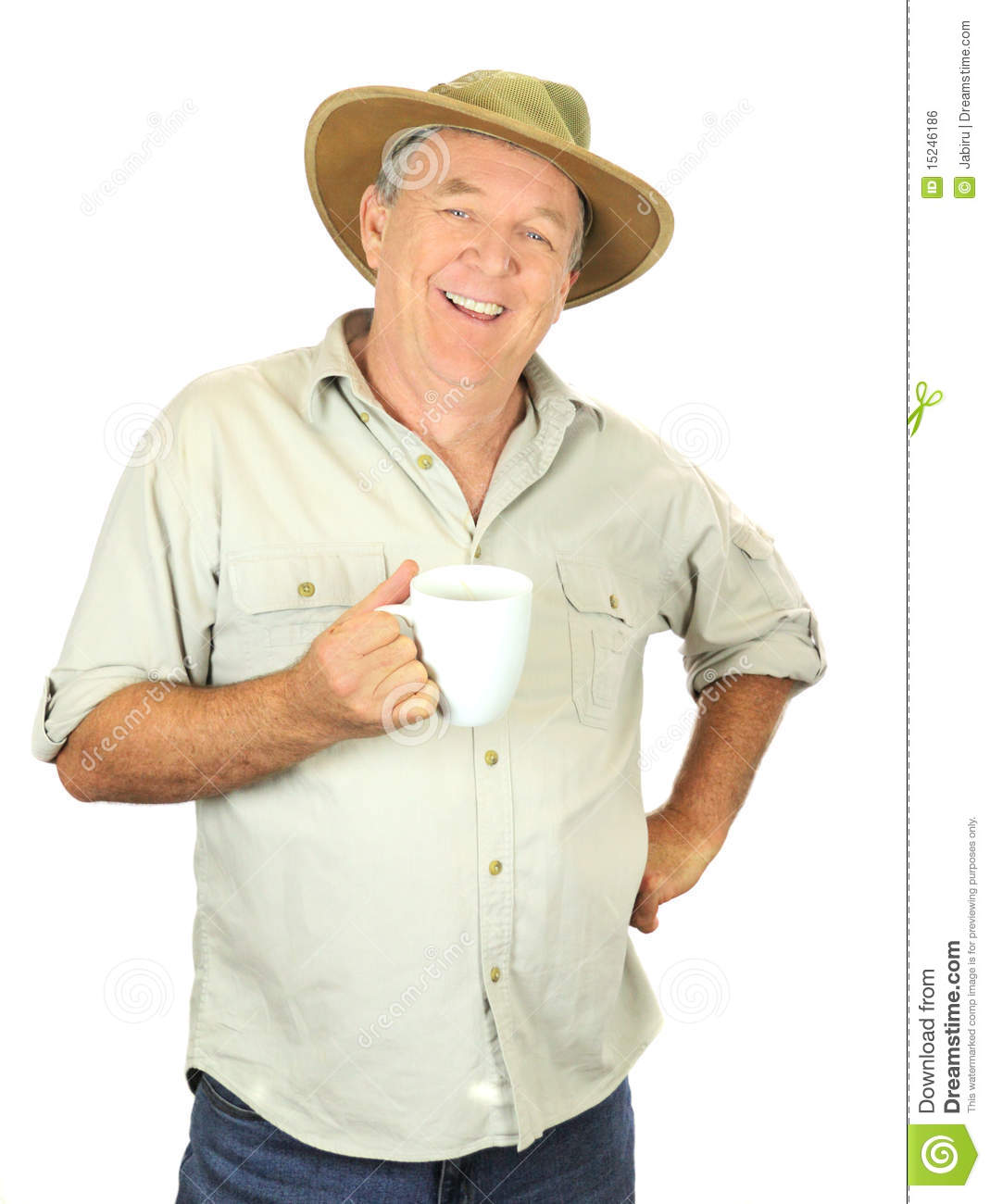 Men Coffee Cups Middle Aged Man Drinking A Cup Of Coffee Royalty Free