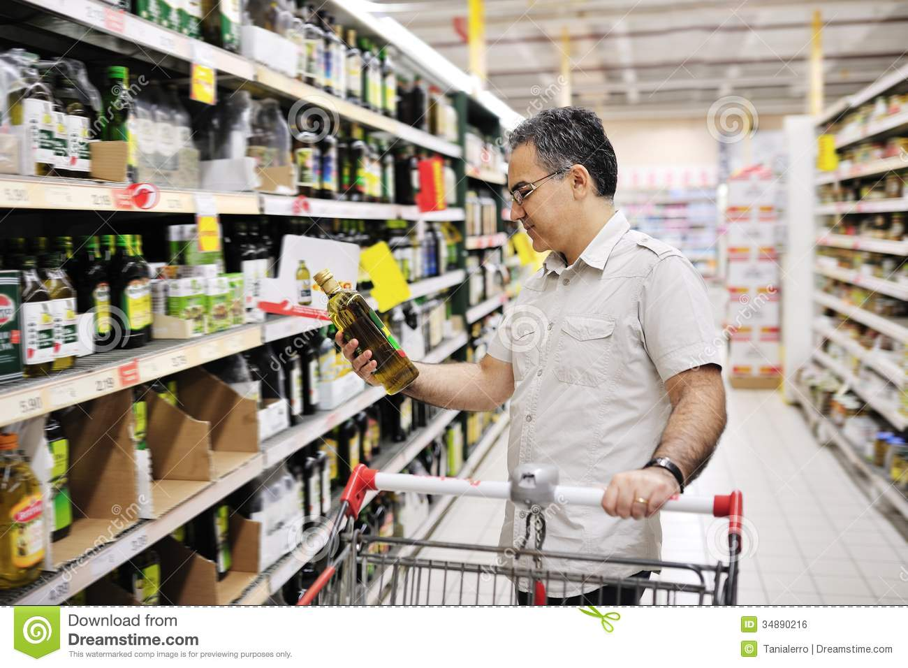 Business Plan Examples << Food And Beverage Business Man Shopping And Looking At Food In Supermarket Royalty