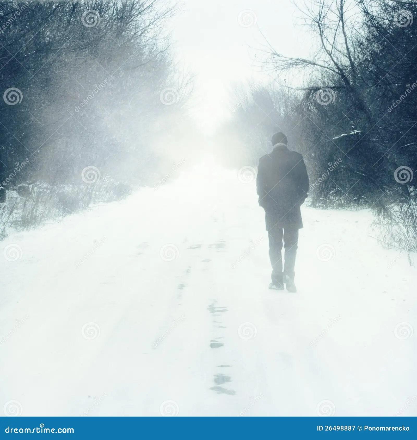 Wallpaper Download Alone Girl Man Walks Alone Stock Image Image Of Walk Himself