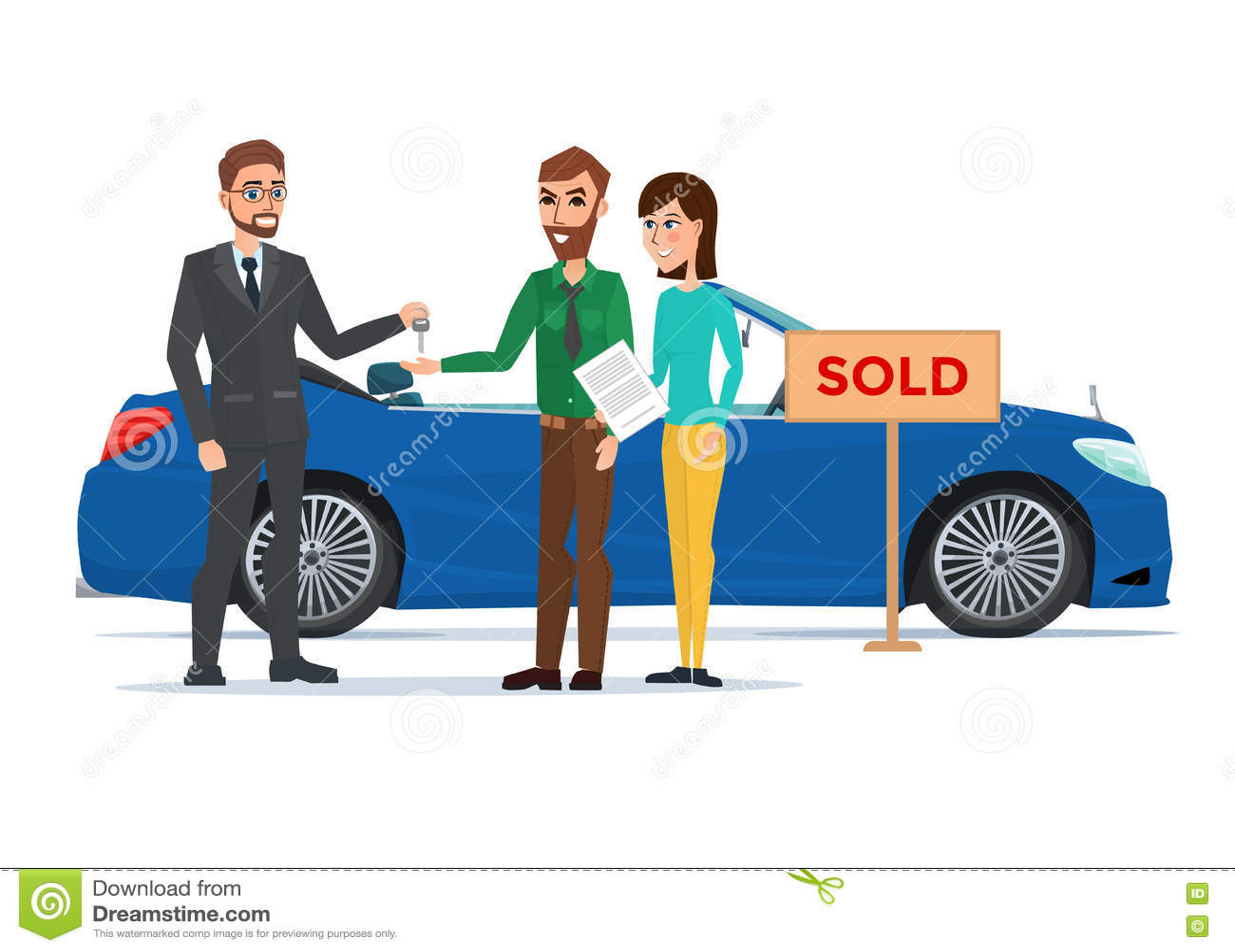 Background business cartoon concept dealer