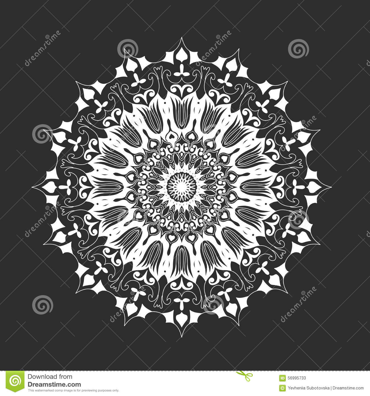 Mandala Wallpaper Iphone 6 Mandala Rond Blanc Sur Le Fond Noir Abstrait Illustration