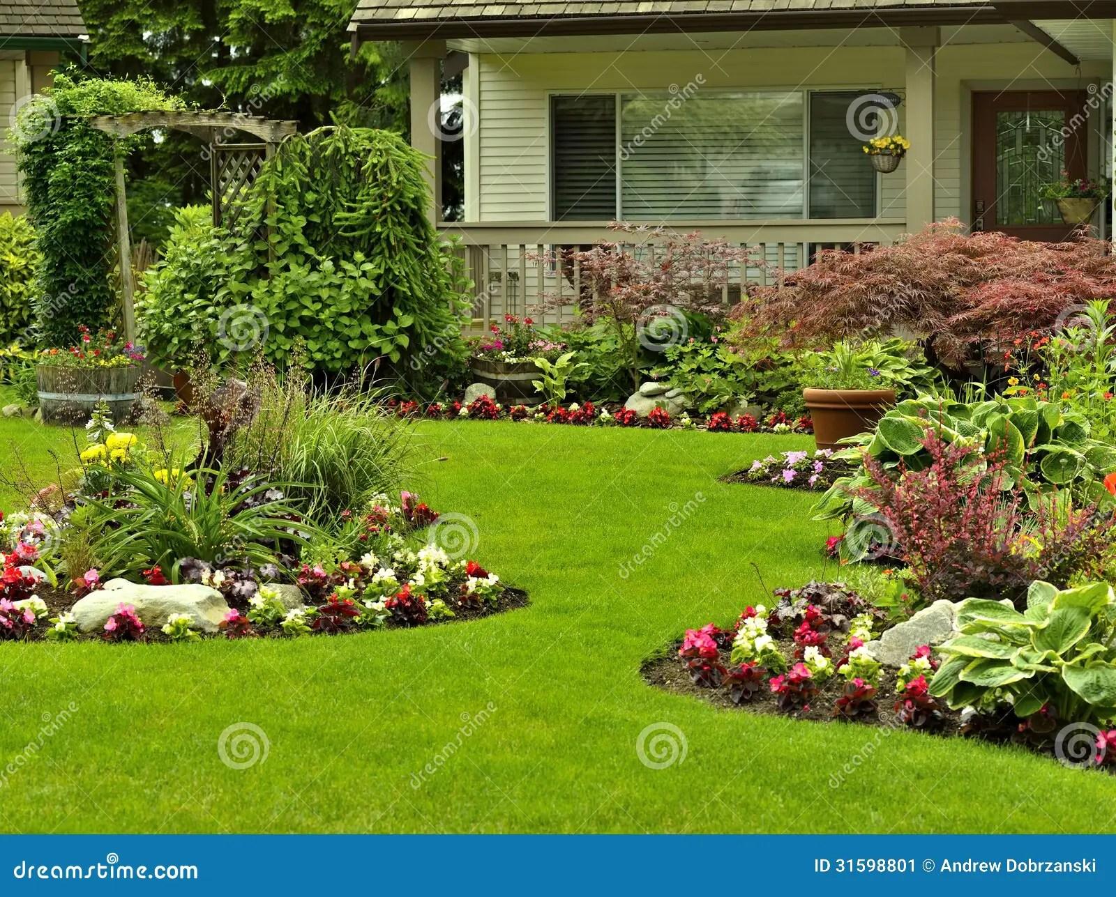 Front Yard Landscaping Stock Image Image Of Arrangement