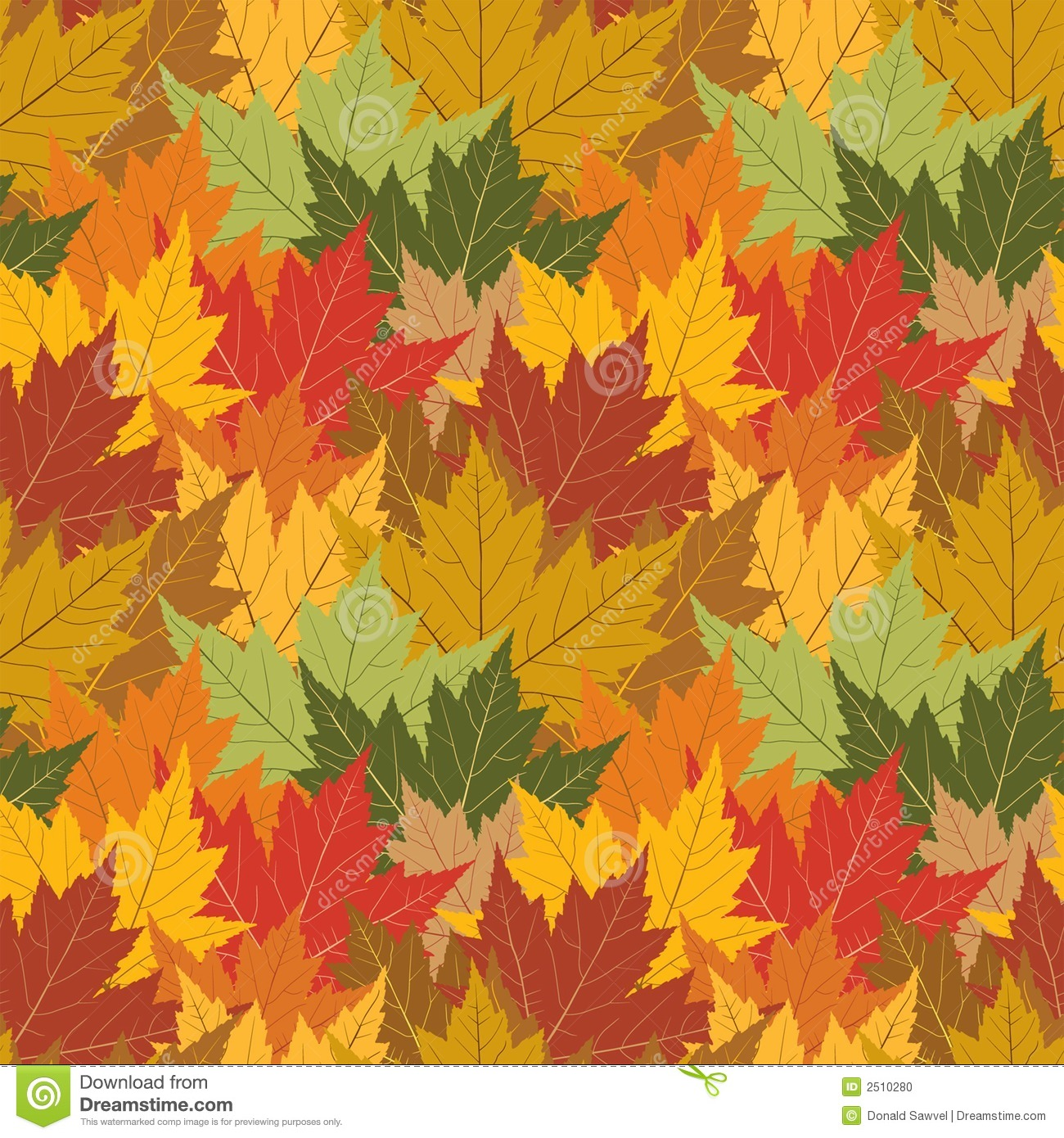 Fall Of The Leafe Wallpaper Maple Leaf Seamless Background Stock Vector Image 2510280