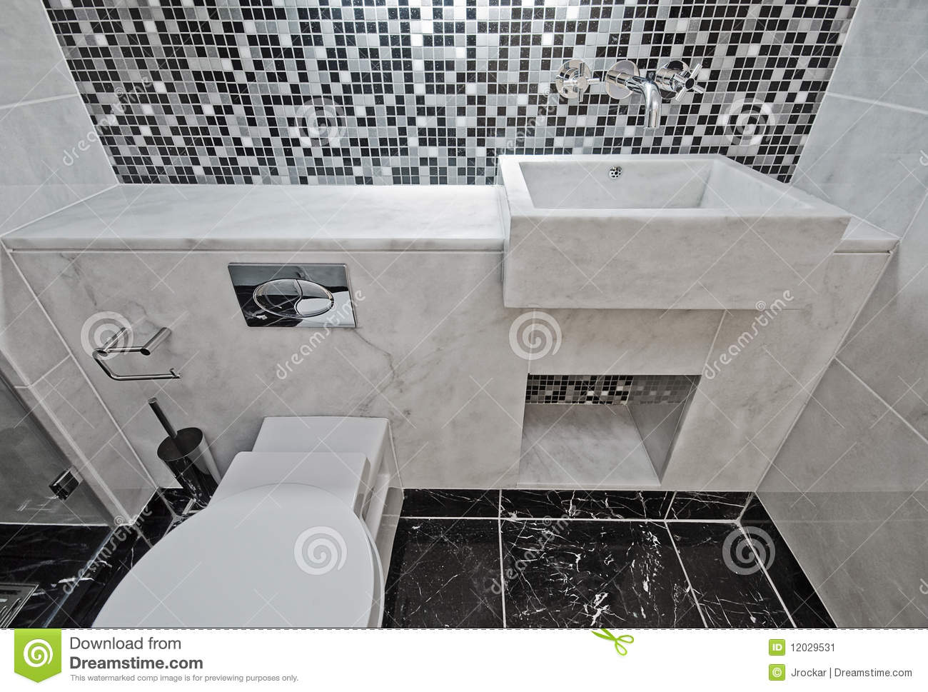 Piastrelle Tipo Mosaico Marble Bathroom With Mosaic Tiles Stock Image Image Of