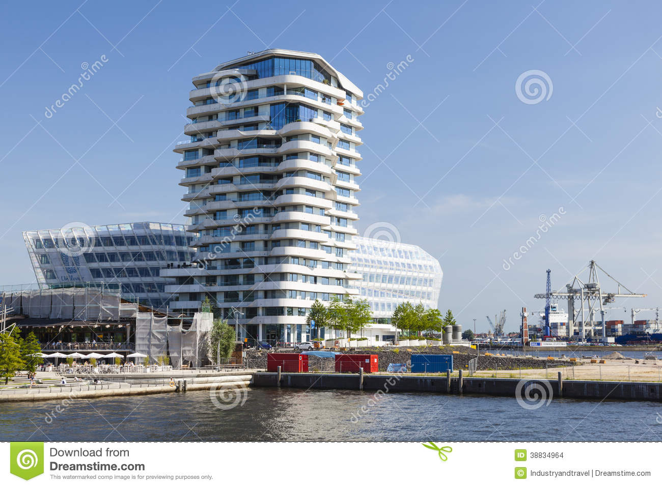 Marco Polo Tower Marco Polo Tower In Hamburg, Germany, Editorial Editorial Stock Image - Image Of Destination, Sunlight: 38834964