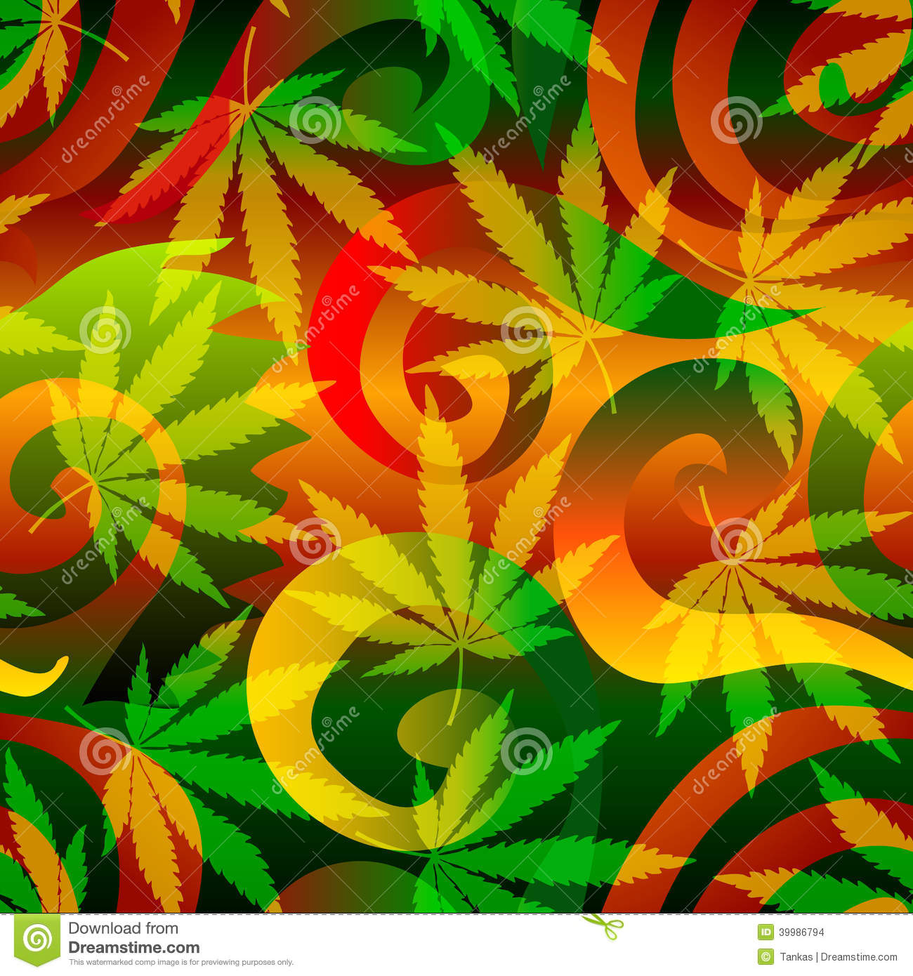 Rasta Girl Wallpaper Marijuana Background Stock Vector Image 39986794