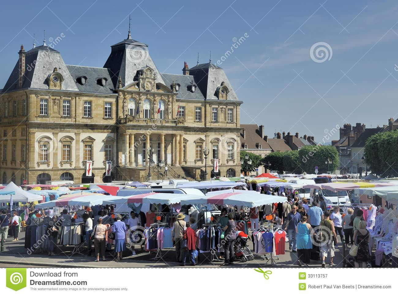 Stock Markets Open Time Market Place In Autun Editorial Photography Image Of