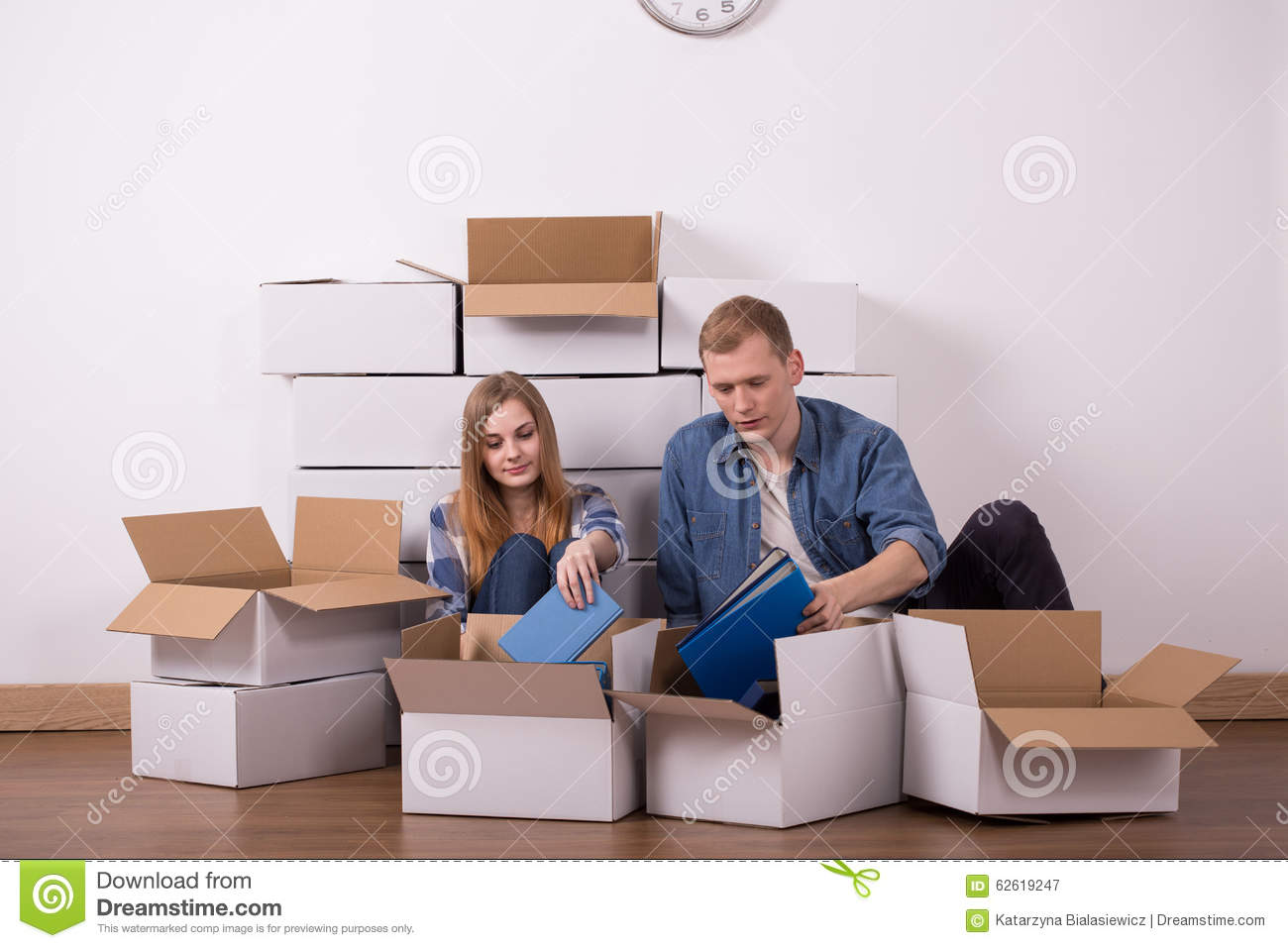 Young Couple Apartment Married Couple Moving In Apartment Stock Photo Image