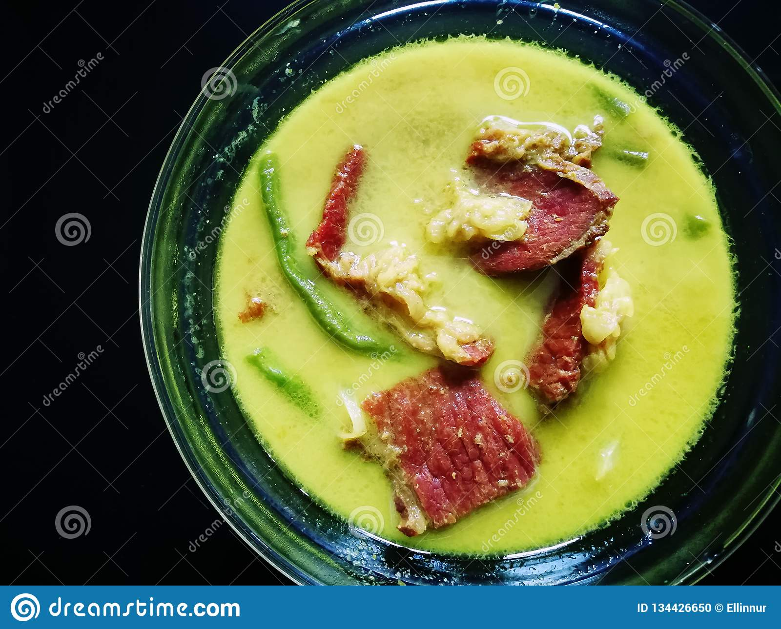 Background Masak Masak Lemak Daging Salai Smoked Beef Cooked In Coconut Milk Stock