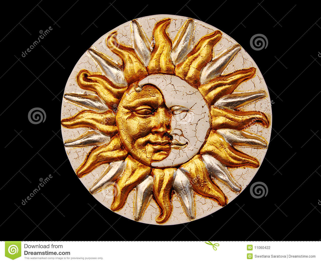 Garnier Masque Mask, The Moon And The Sun Stock Photography - Image: 11060422
