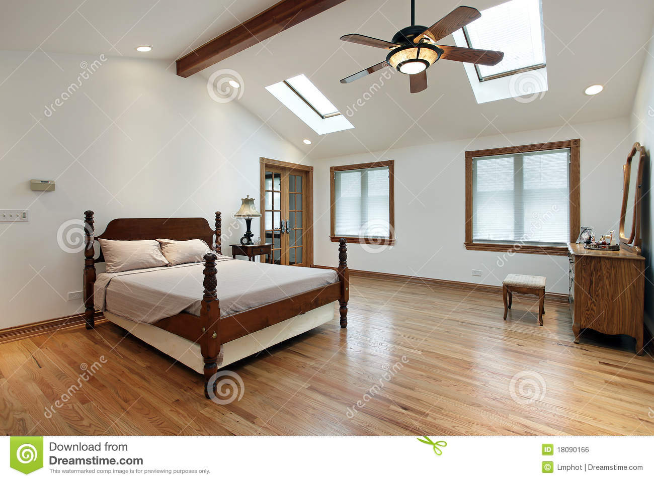 Bedroom Skylight Master Bedroom With Skylights Stock Photo Image Of