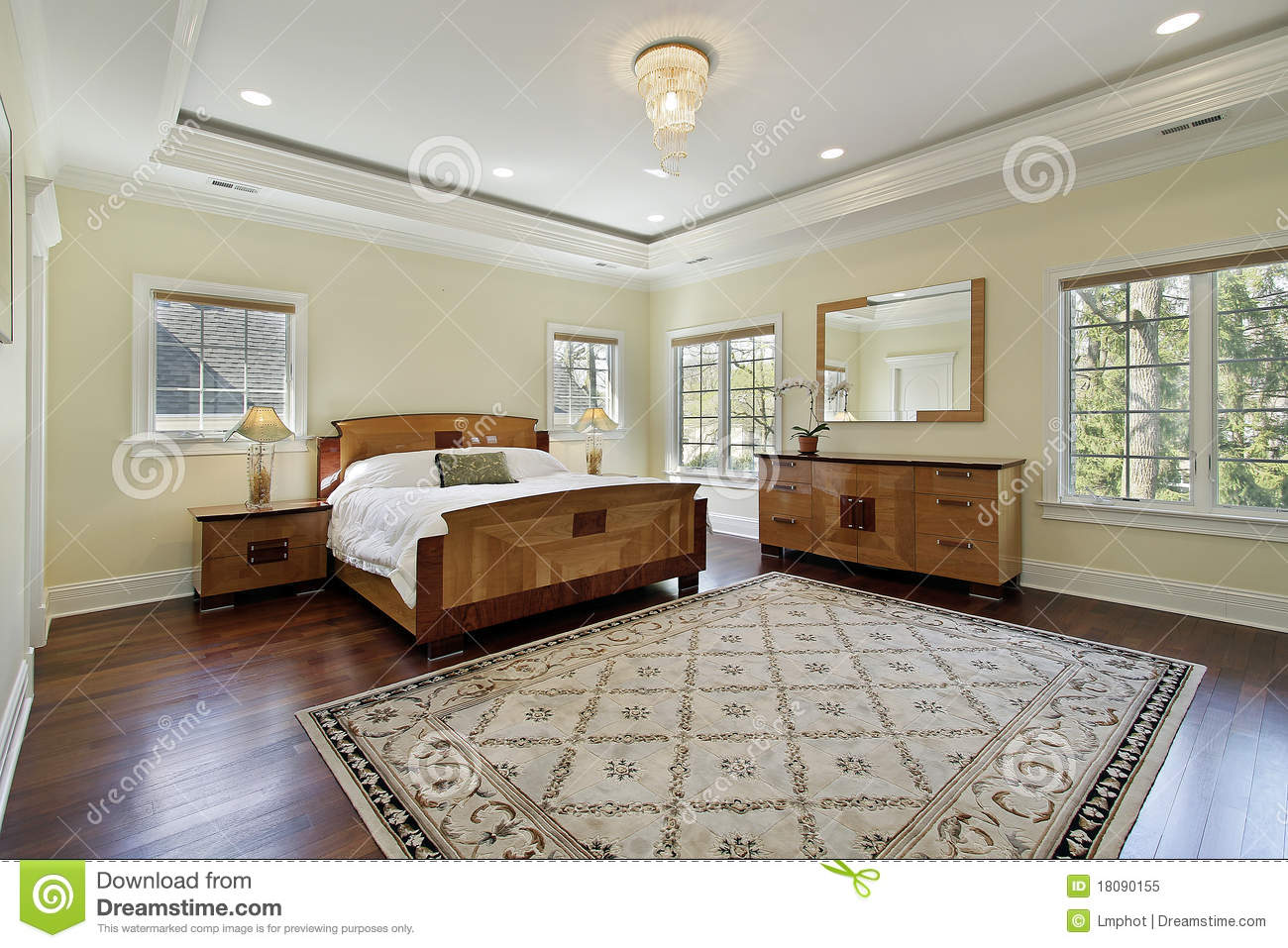Fall Ceiling Wallpaper Download Master Bedroom With Tray Ceiling Stock Image Image 18090155