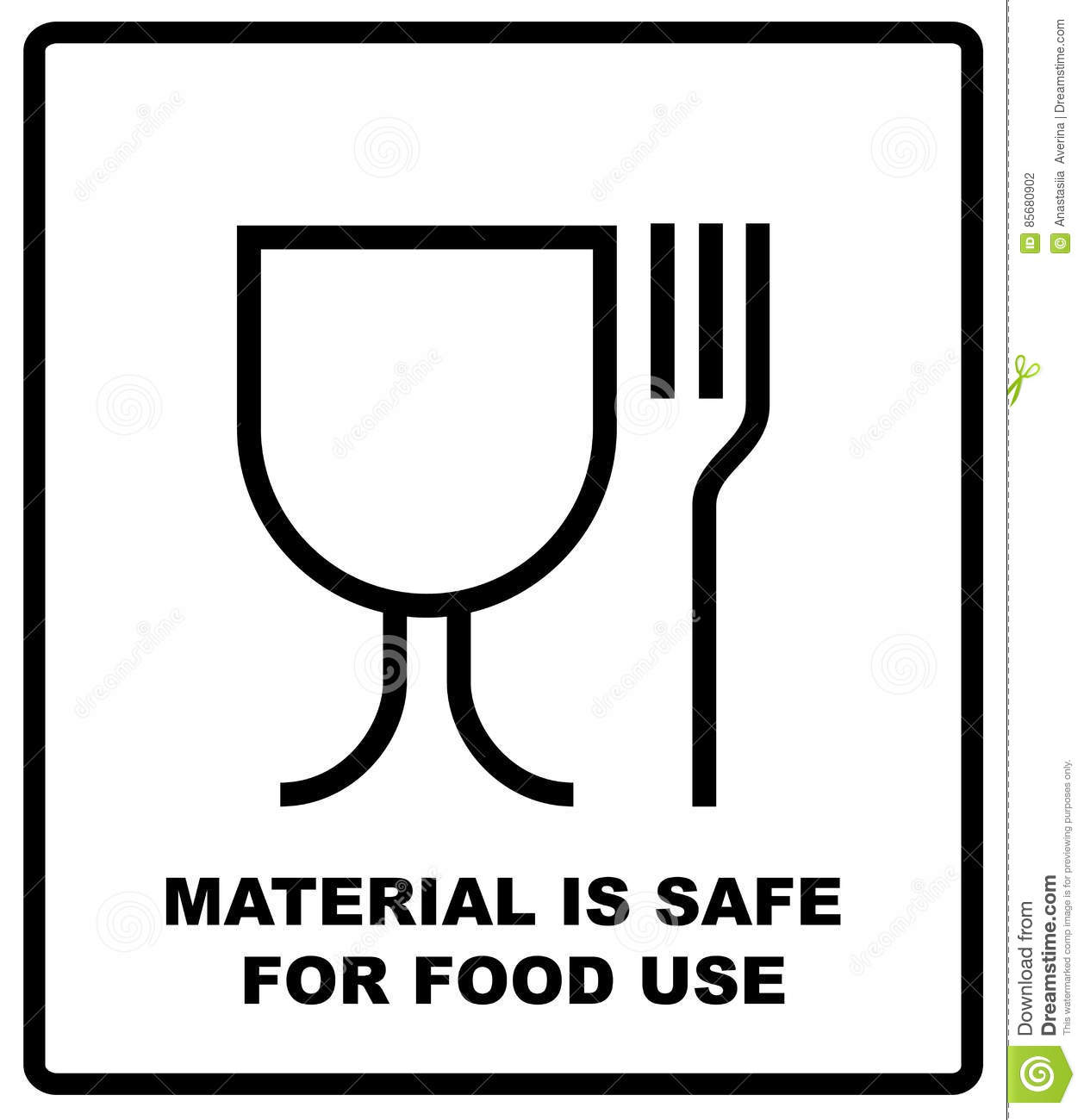 Spülmaschinengeeignet Symbol Material Is Safe For Food Use Icon Fork And Glass Simple