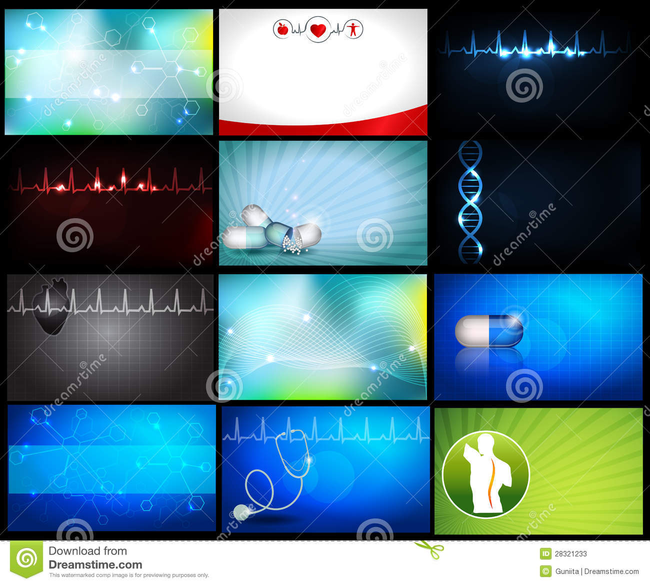 3d Wallpaper Squares Medical Backgrounds Or Business Cards Stock Photos Image