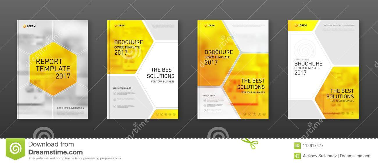 Medical Brochure Cover Template, Flyer Design Layout Stock Vector