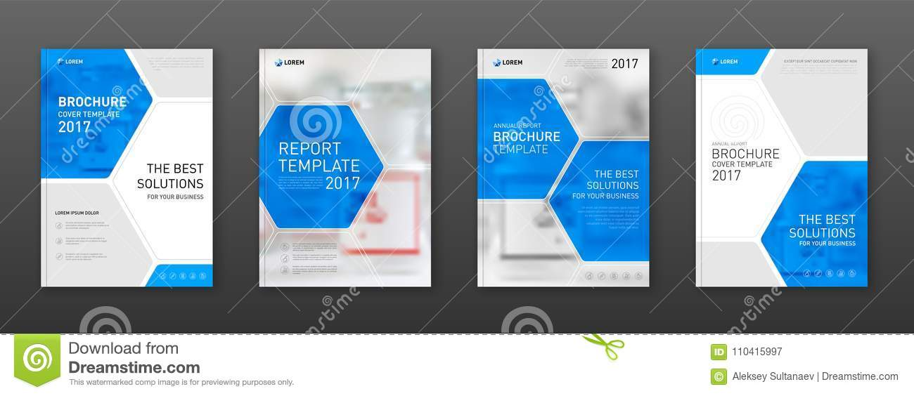 Medical Brochure Cover Templates Set Stock Vector - Illustration of