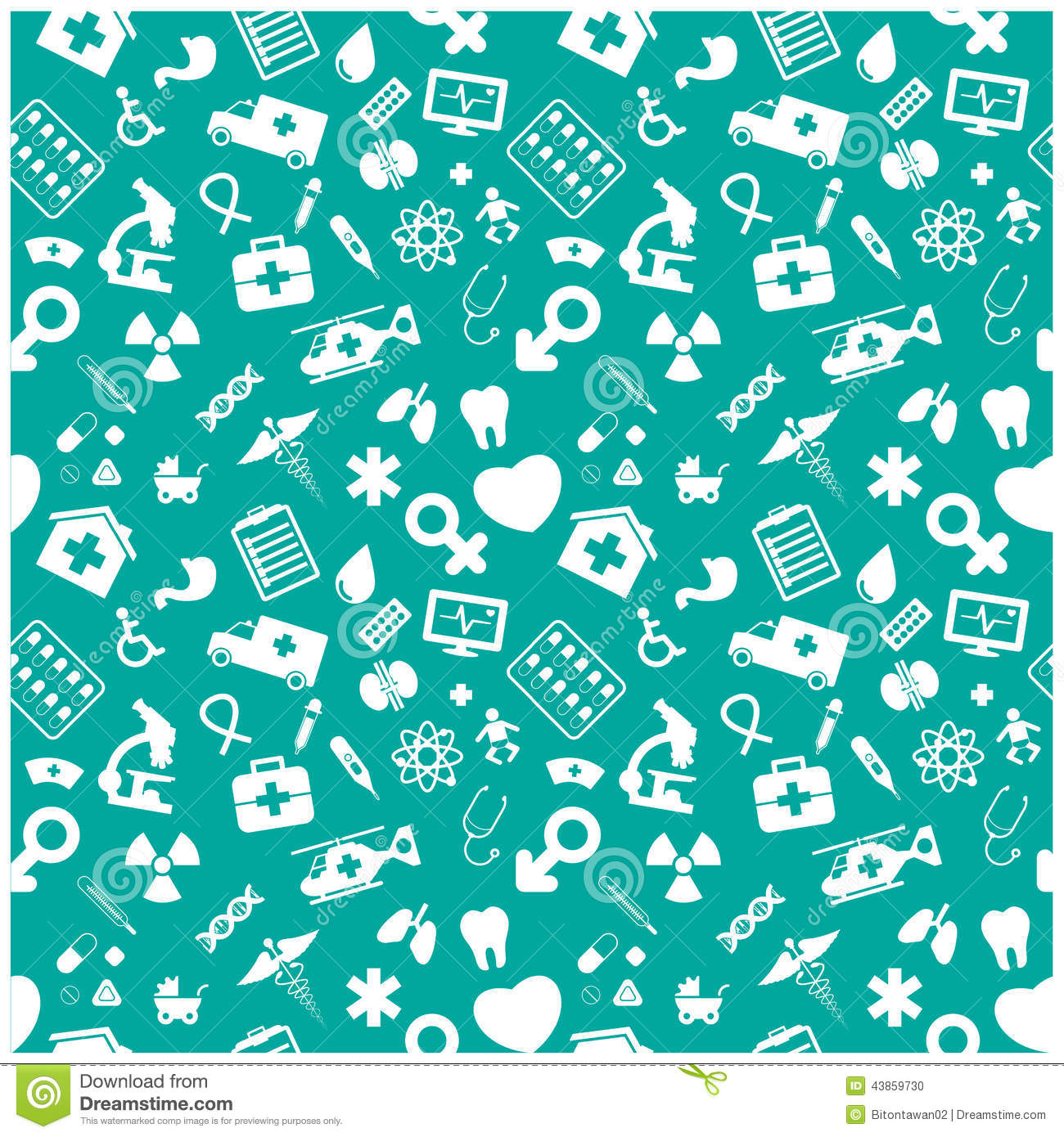 Cute Dental Wallpaper Medical And Health Background Pattern Stock Vector