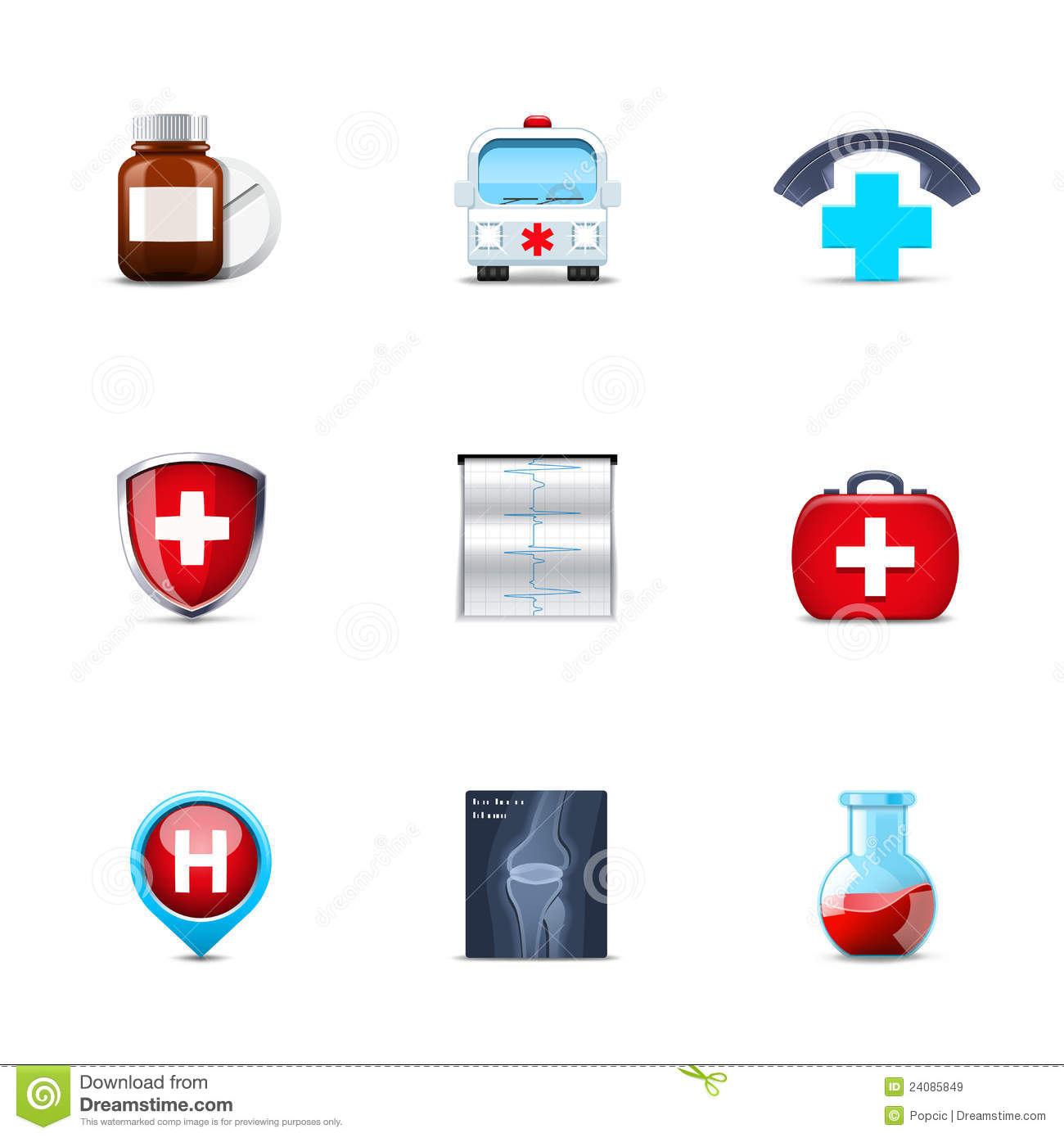 House Doctor Ornament Dreams Medical Icons Royalty Free Stock Images - Image: 24085849