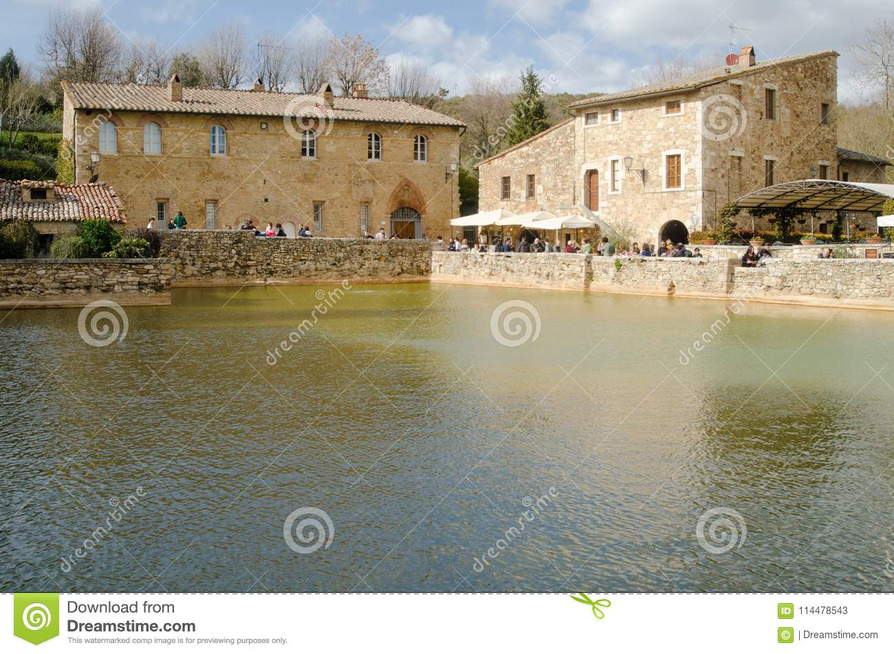 Bagno Vignoni Free Thermal Baths Ancient Baths Of Bagno Vignoni Editorial Stock Photo Image Of