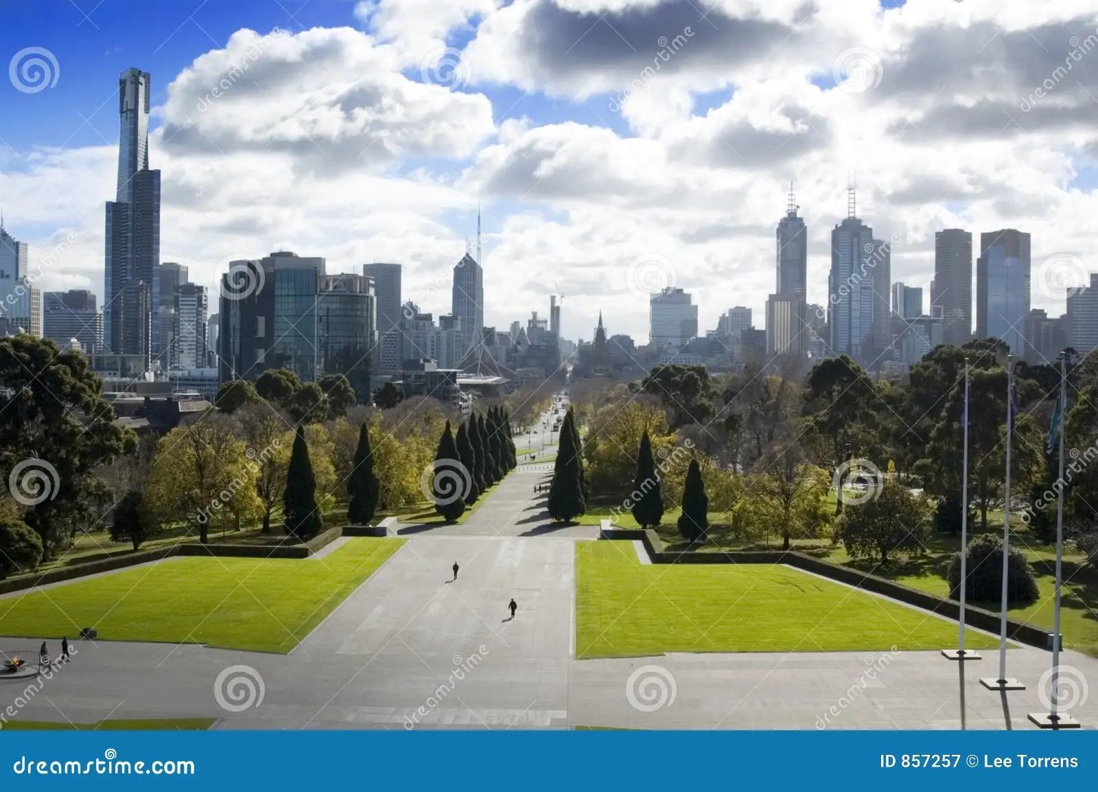 3d Wallpaper Australia Melbourne City Park Royalty Free Stock Photography Image
