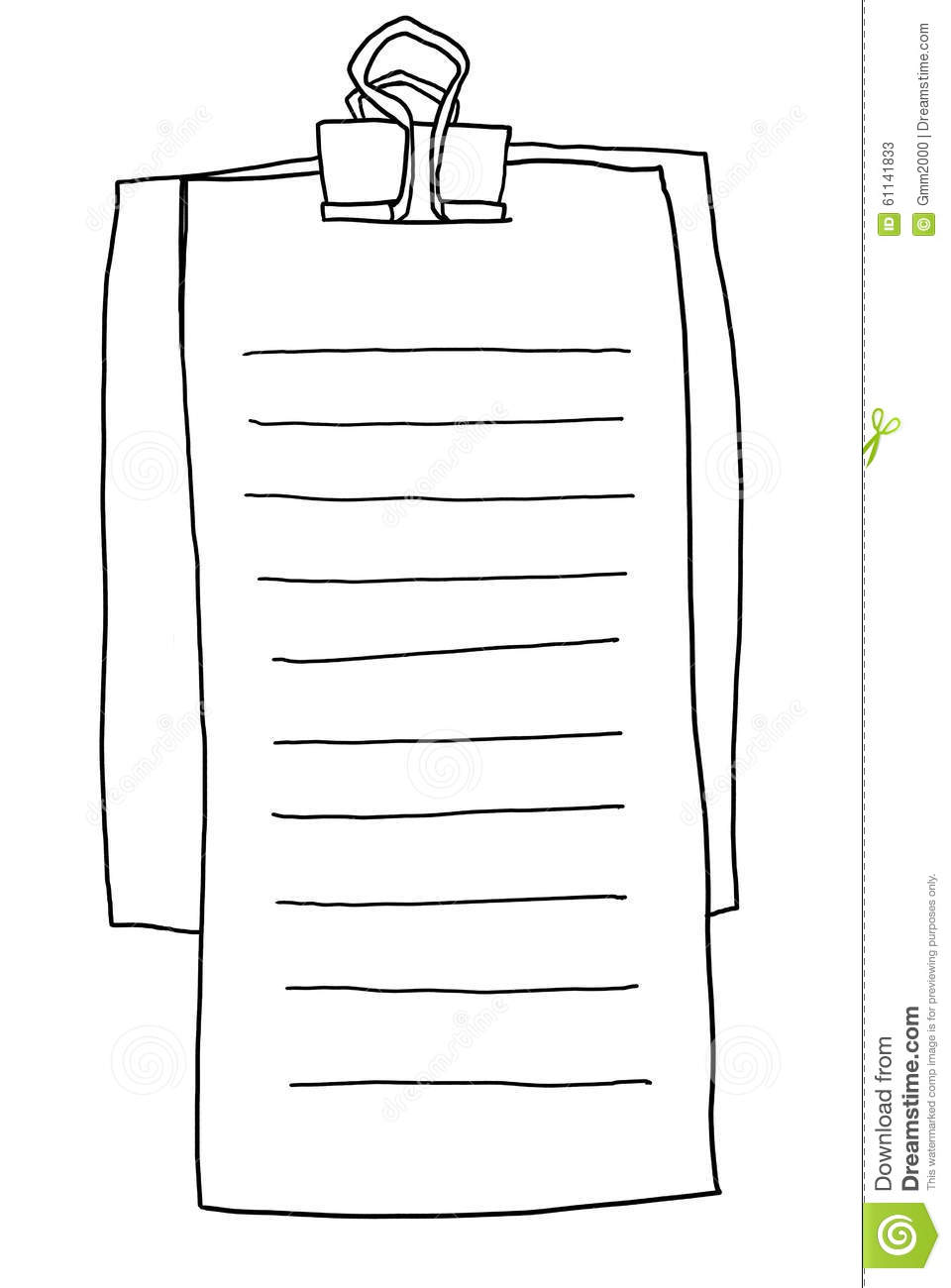 Memo Board Memo Note Paper Line Illustration Stock Illustration