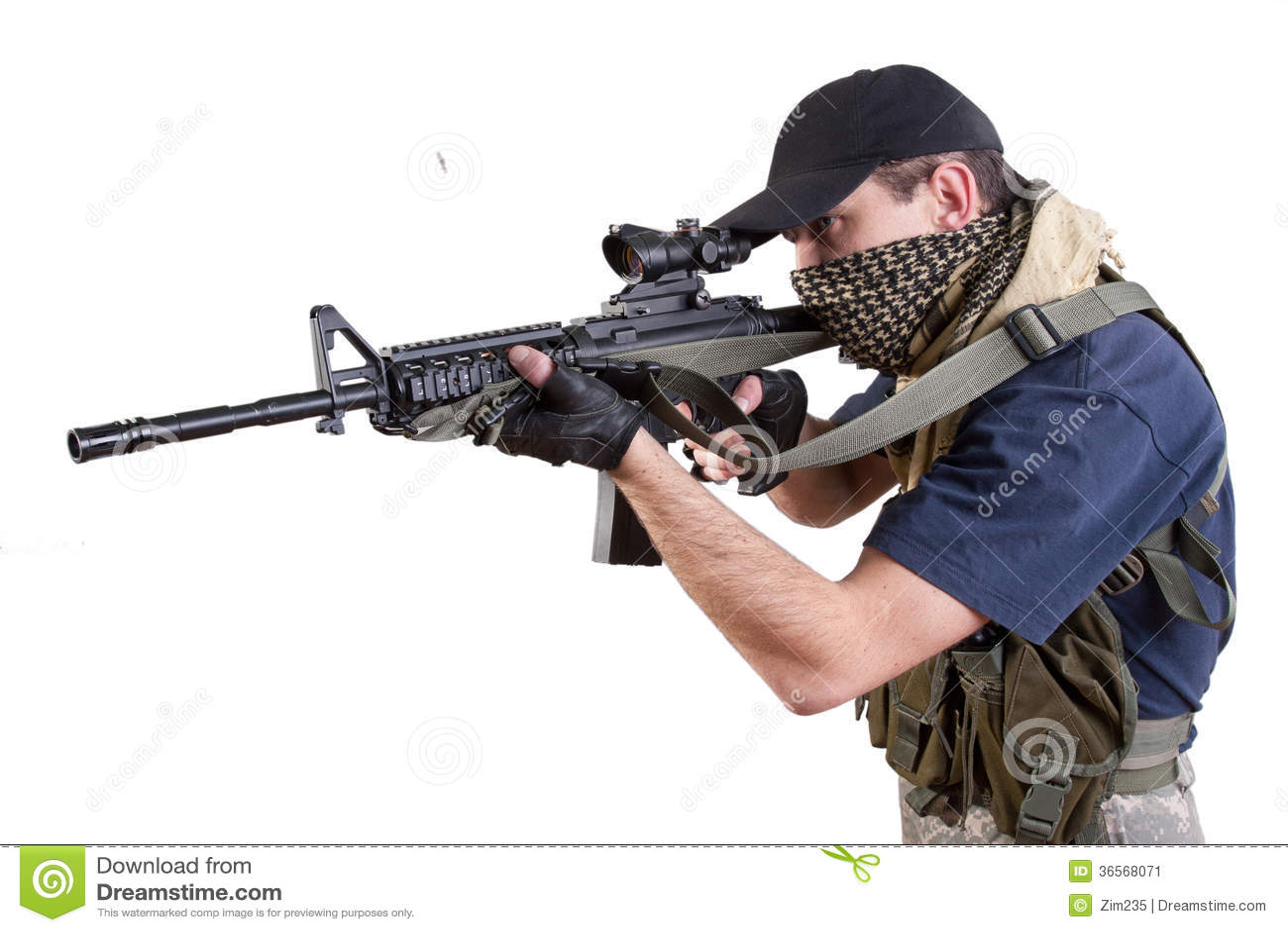 Pistol 3d Wallpaper Mercenary Private Security Contractor Stock Image