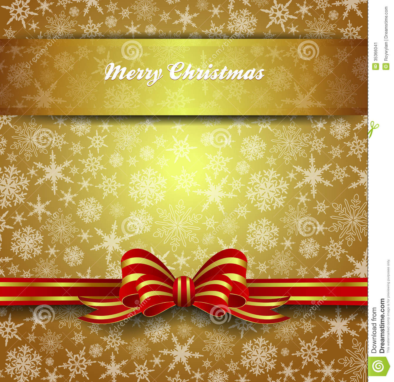 Free Download Of Christmas Wallpaper With Snow Falling Merry Christmas Card Snowflakes Gold Background Stock