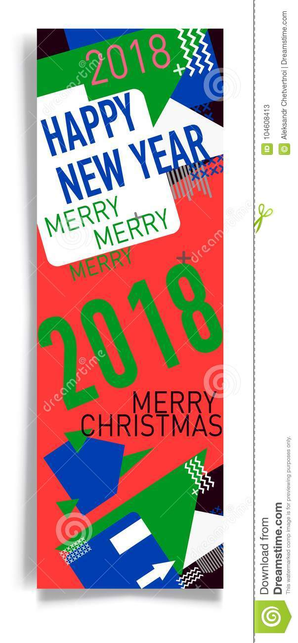 Merry Christmas New Year Design, Eye Catching Banner Template