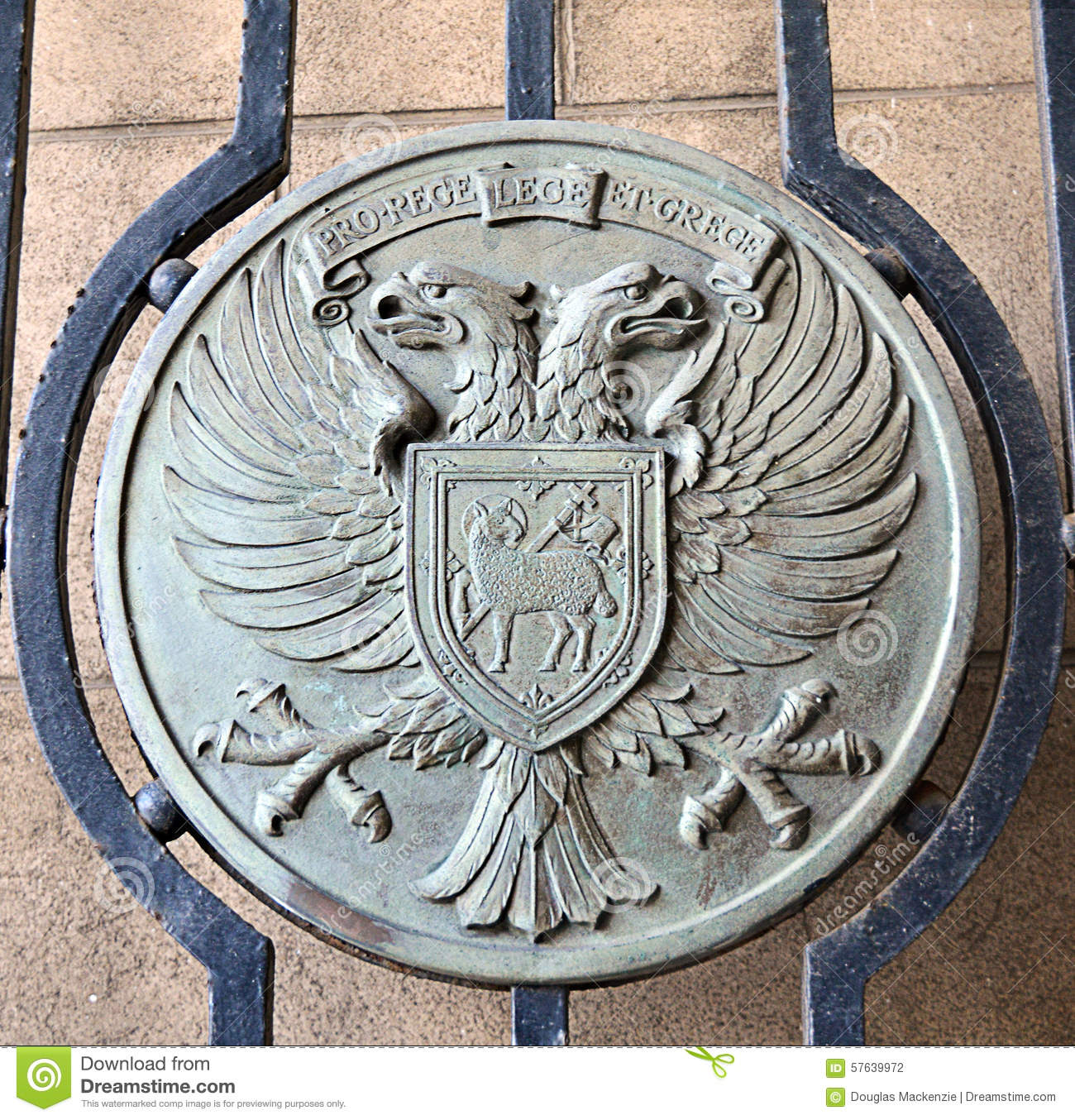 You Plate It Perth Metal Plate On A Gate Displaying Coat Of Arms Of City Of