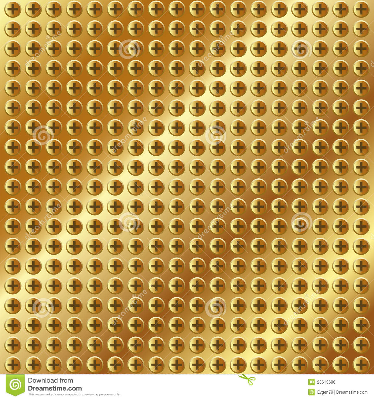 3d Shamrock Wallpaper Metallic Gold Background With Screws Stock Photo Image