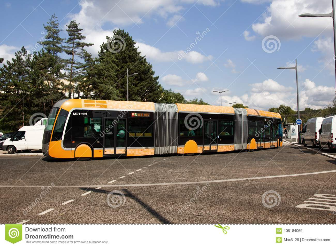 Bus Metz Metrobus Bi Articulated Buses Multi Section Articulated Buses