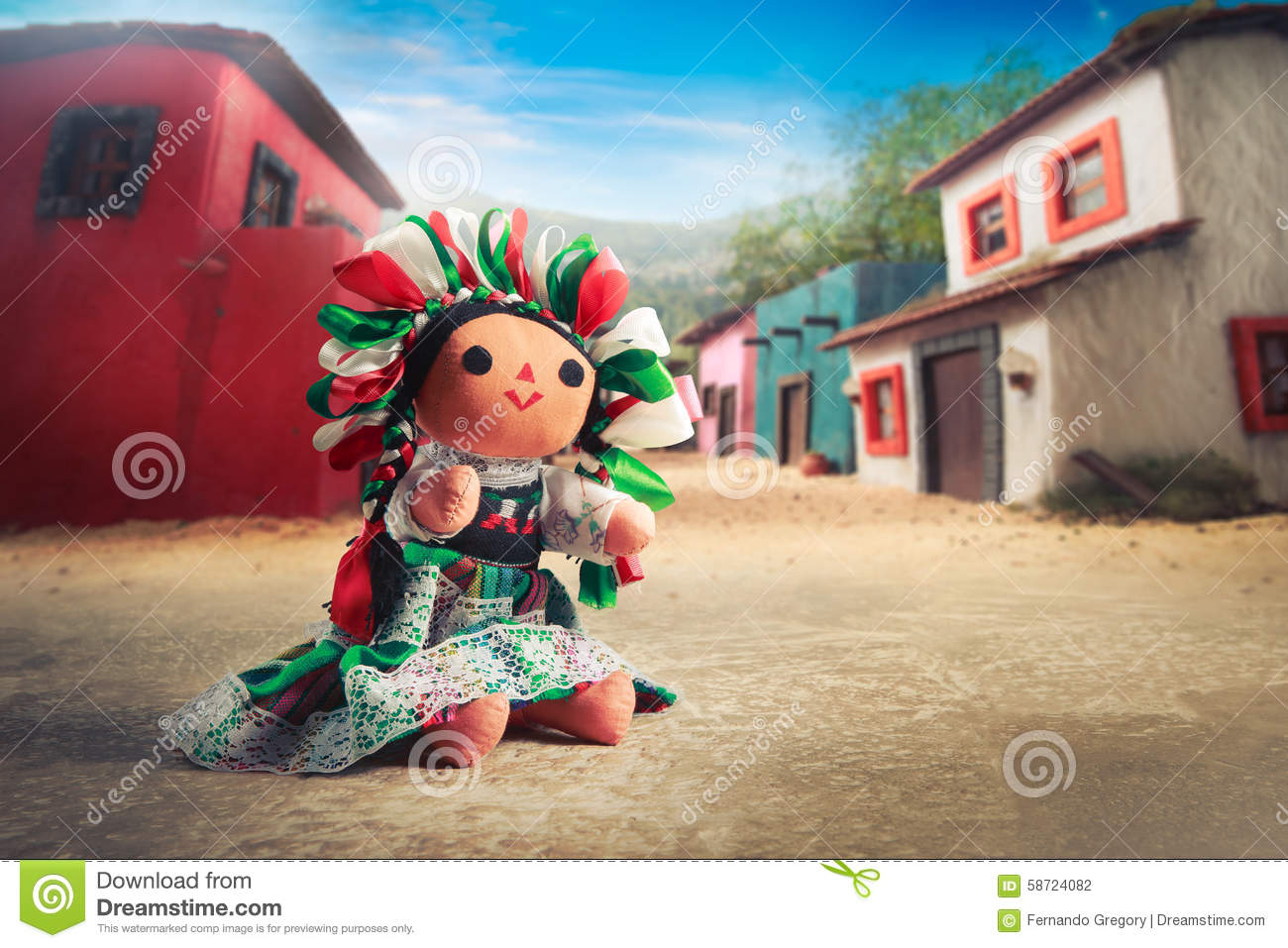 Cute Girl Doll Wallpaper Hd Mexican Rag Doll In A Traditional Dress On A Mexican