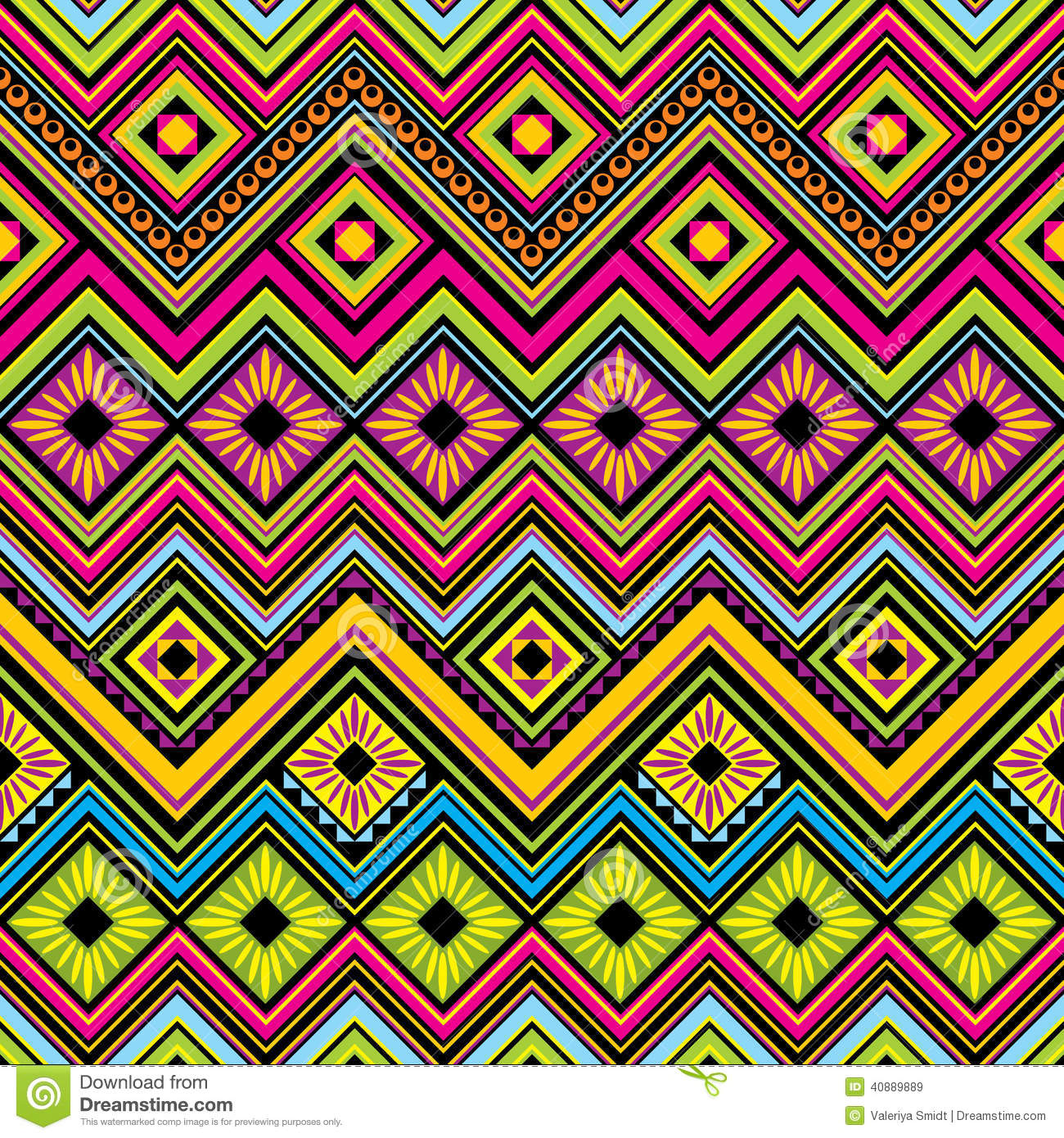Background geometric mexican patterns seamless vector zigzag maya