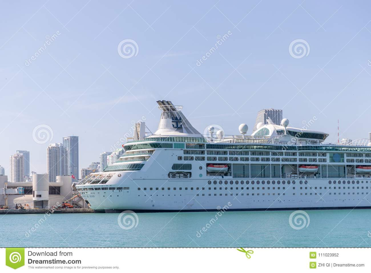 Miami Port Cruise Ship Departing From Miami Port The City Is A Famous