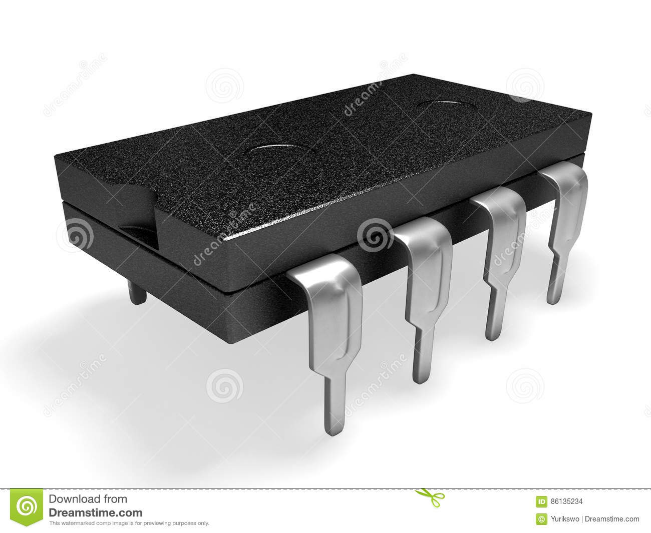 3d Micro Micro Chip 3d Stock Illustration Illustration Of Render 86135234