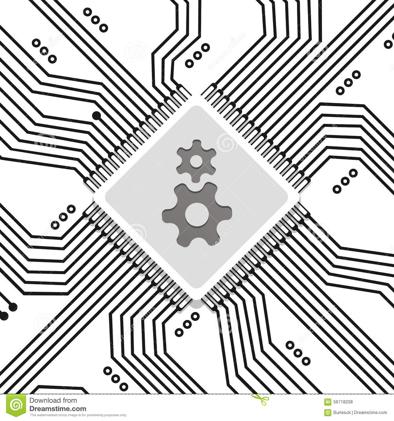 electronic integrated circuit board