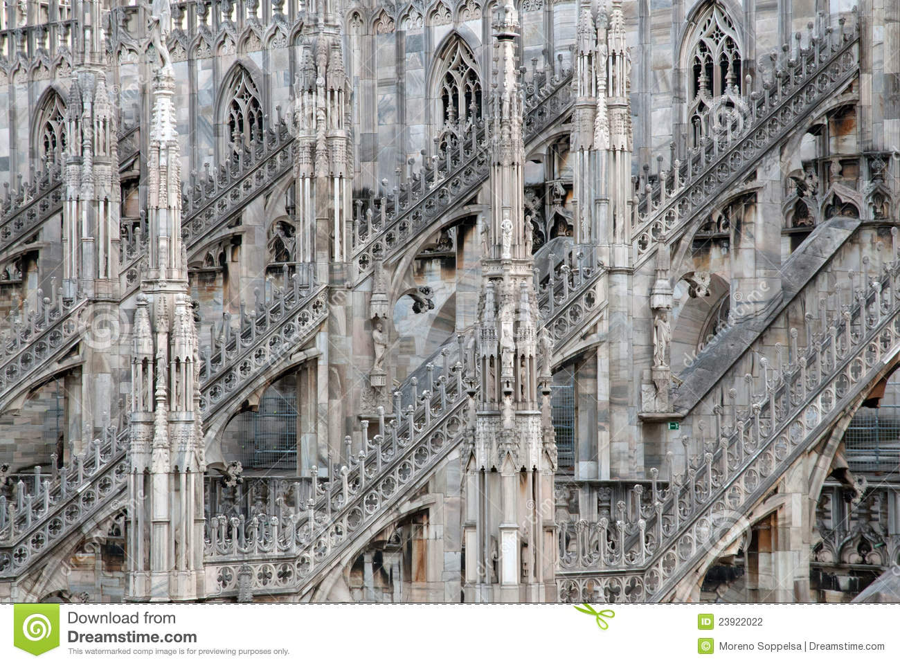 Outlet Milano Sud Milan Cathedral Dome Duomo Stock Photo Image Of