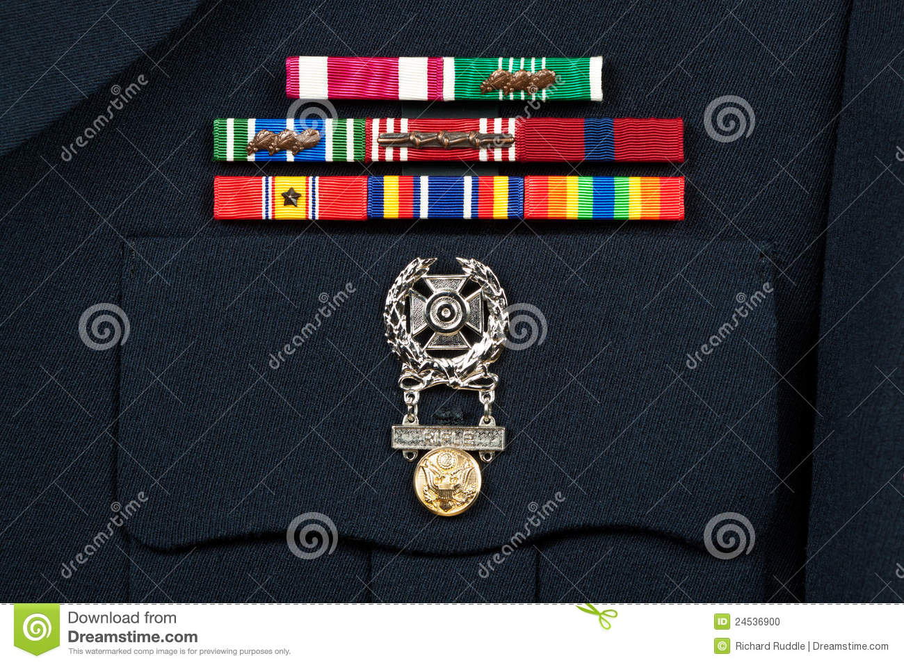 Decoration Americaine Militaire Military Decorations On Dress Uniform Stock Photo Image