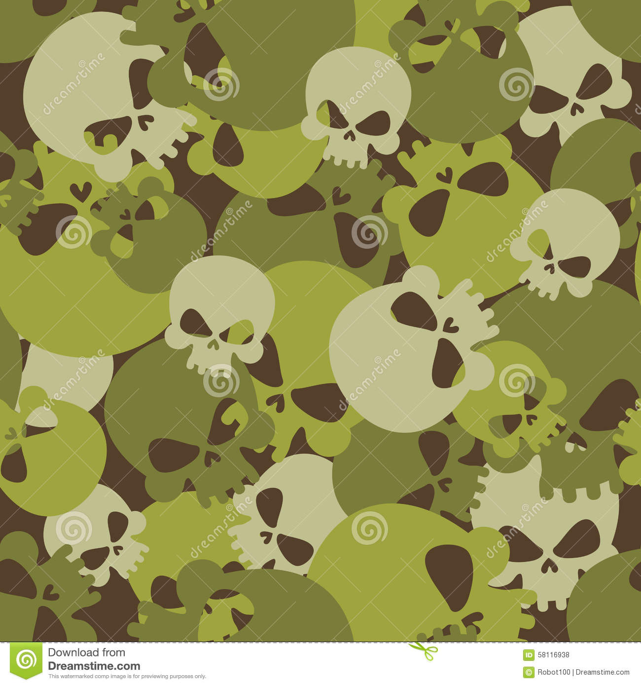 Skeleton Head Wallpaper 3d Military Texture Of Skulls Camouflage Army Seamless