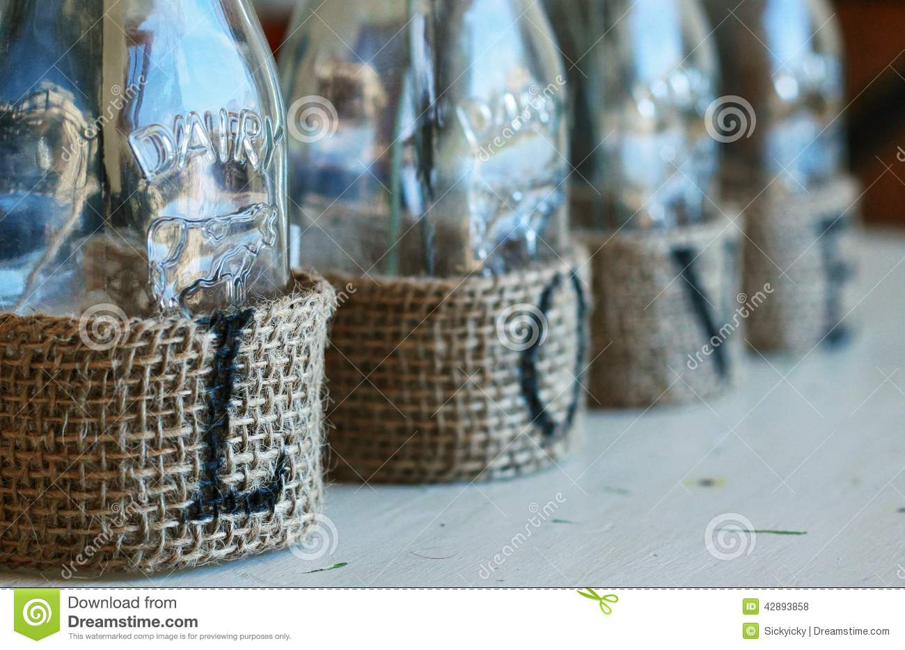Milk Bottles For Decoration Milk Bottle Crafts Stock Photo Image Of Bottle Home 42893858