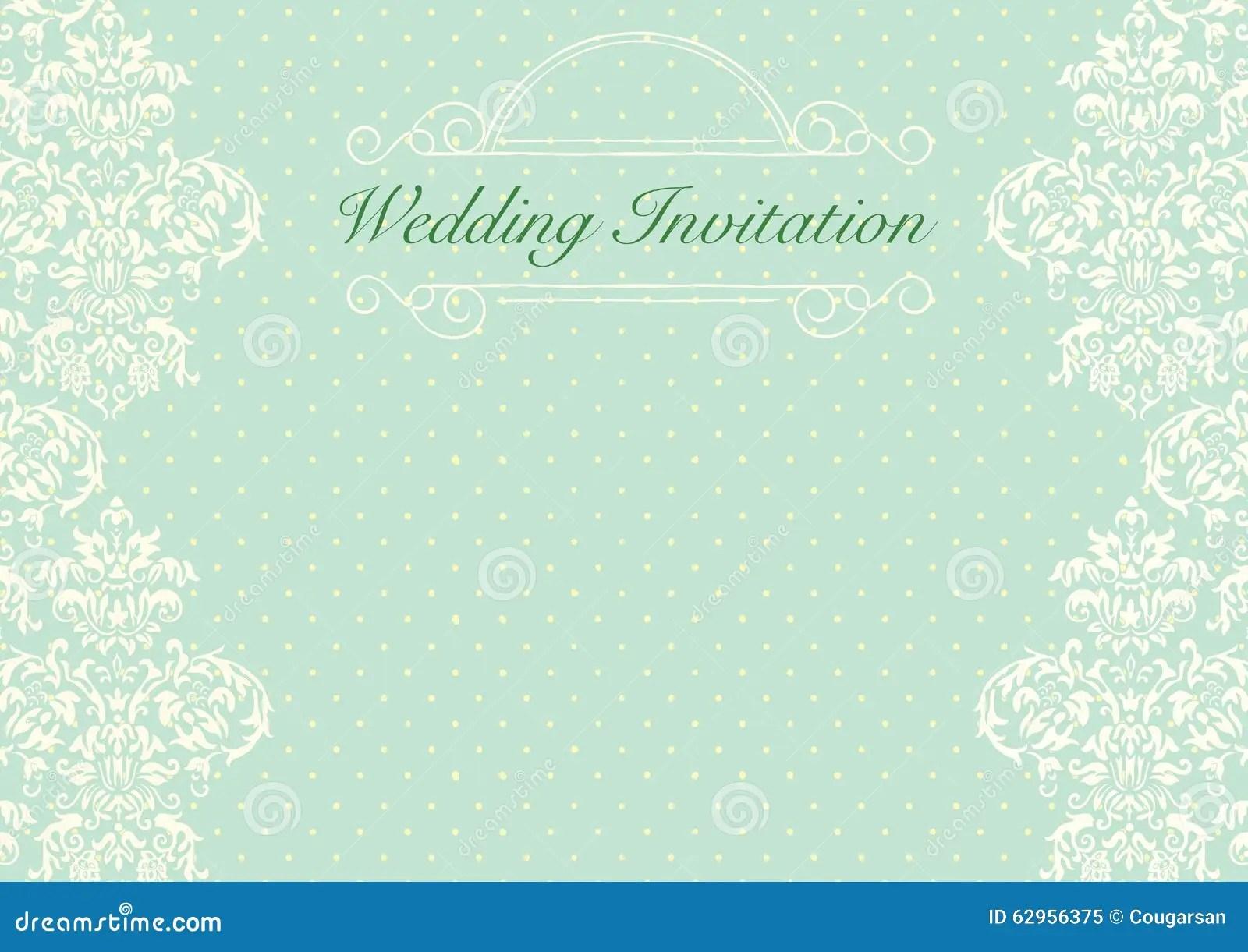 Mint Green Wedding Invitation Background Stock