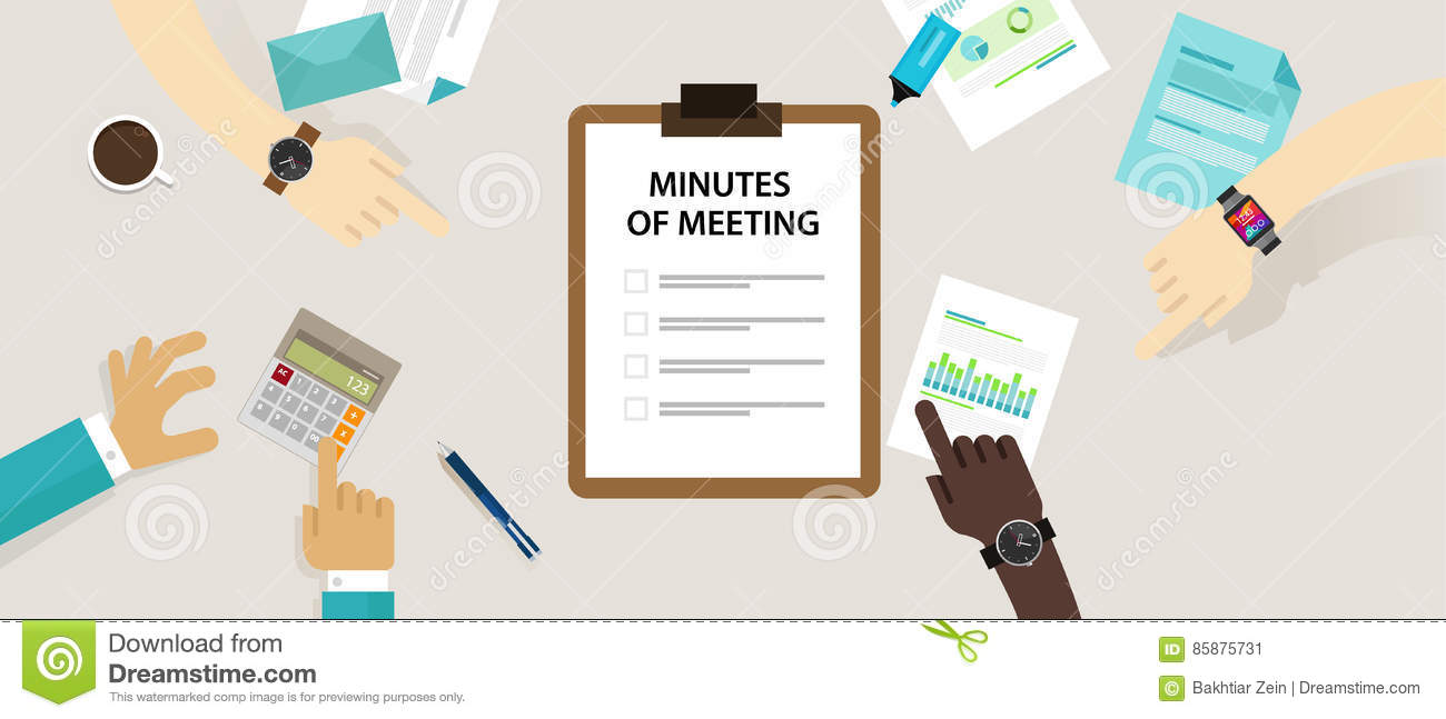 how to write minutes for a meeting